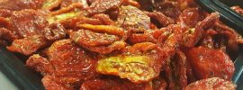 sun-dried tomatoes in grocery store